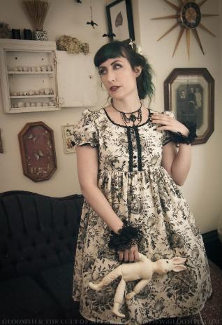 cotton babydoll bird print dress