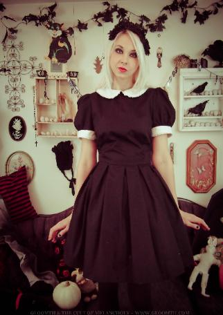 casual gothic dress