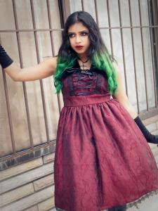 red taffeta gothic prom dressred taffeta gothic prom dress
