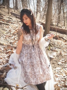 forest witch damask dress gloomth