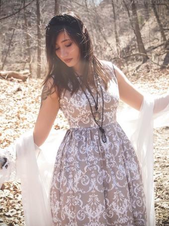 damask bridesmaid dress gloomth