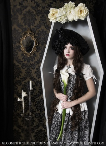 coffin photoshoot editorial