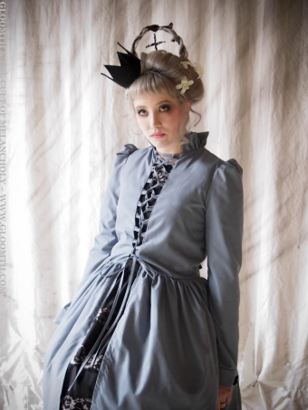 gothic corset overdress victorian gloomth