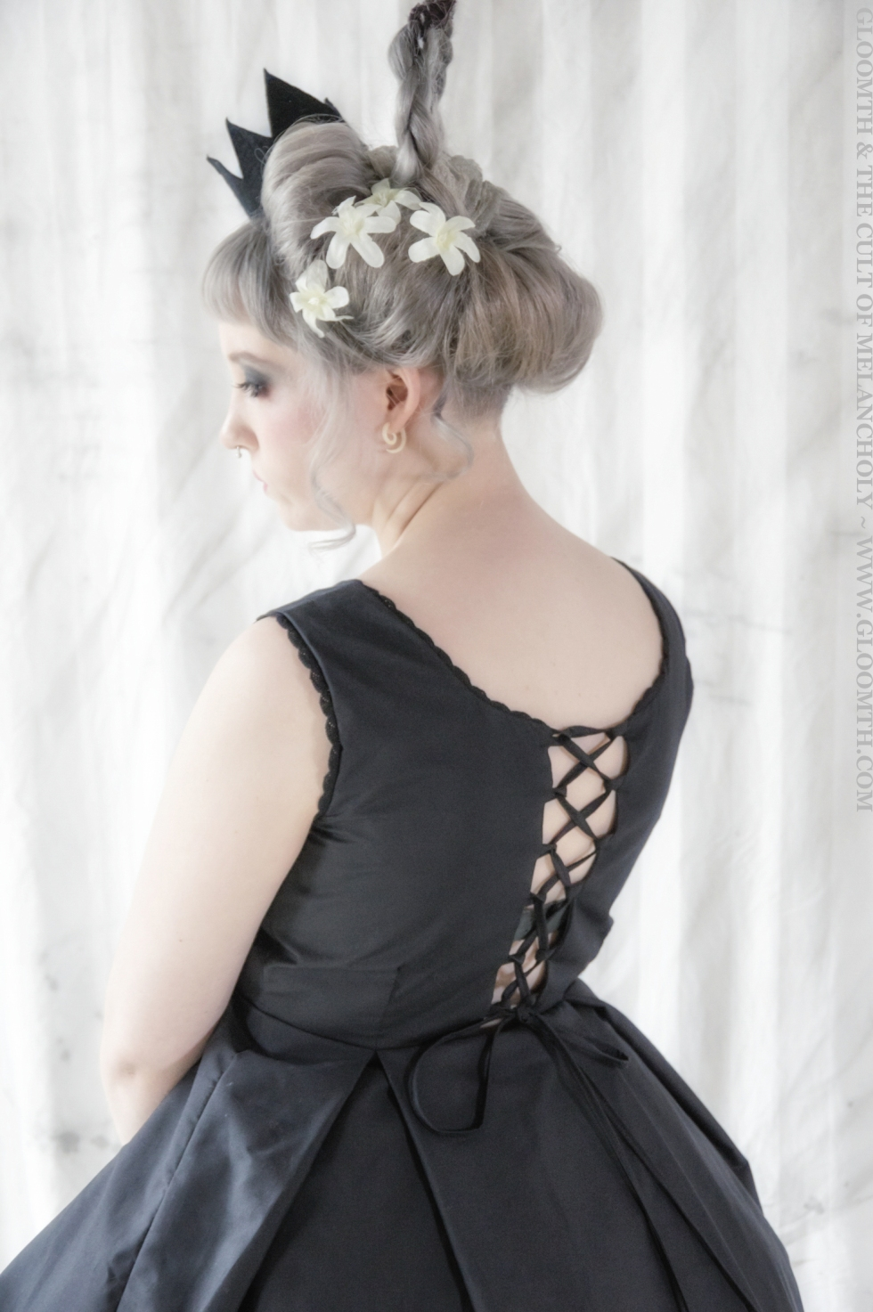 corset back party dress gothic clothing gloomth