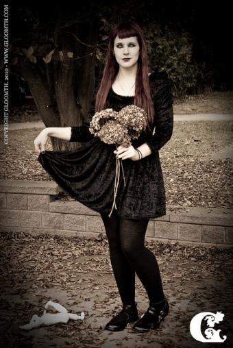 gothic velvet dress gloomth