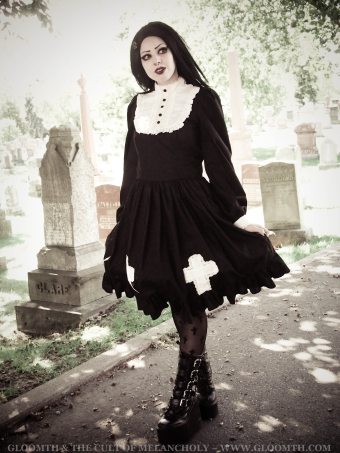 gothic lolita nun dress
