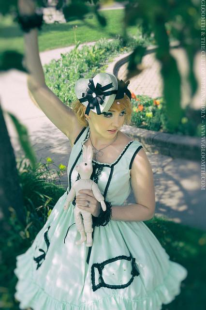 pastel doll mint green dress