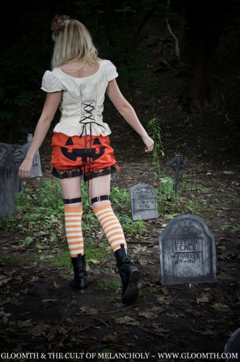 halloween bloomers with jackolantern pumpkin face