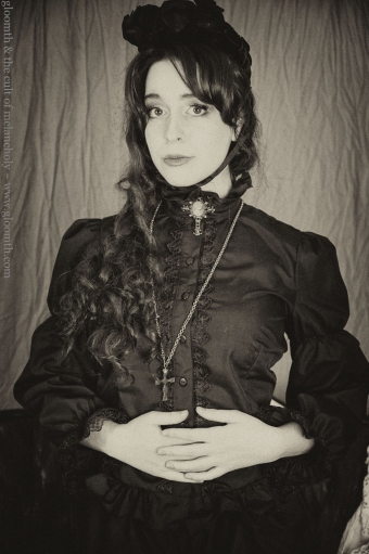 victorian blouse with lace trim