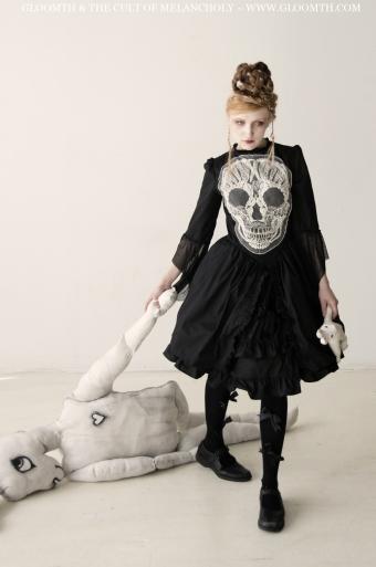 embroidered skull dress gloomth