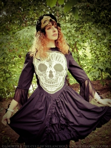 gothic skull dress gloomth