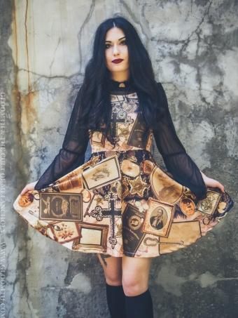 antique mourning ephemera print dress gloomth