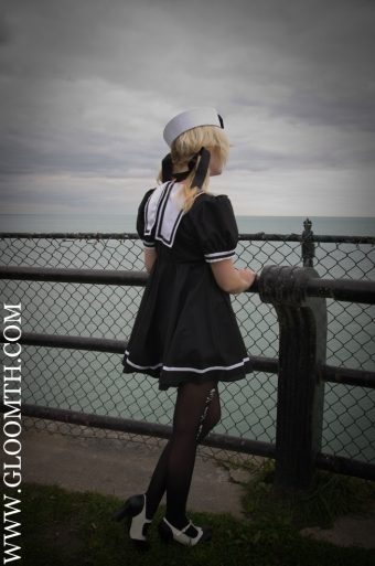 sailor collar babydoll dress