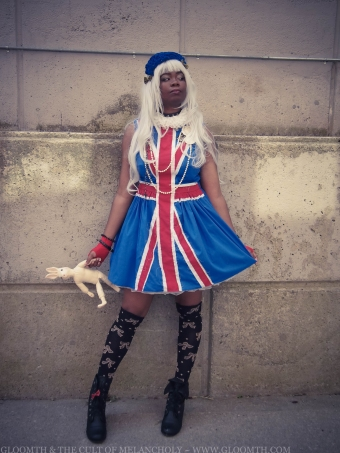 union jack flag dress gloomth punk