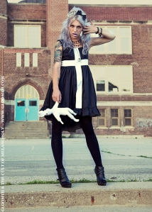 gothic dress with cross mourning glory