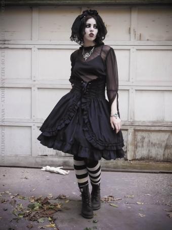 gothic corset skirt lolita gloomth