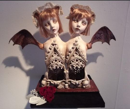 doll artist mari shimizu bat wings