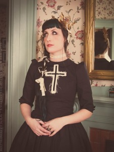 gothic dress with cross detail by gloomth