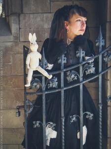 gothic lolita iron gate photoshoot