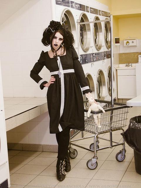 laundromat photoshoot gloomth