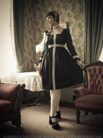 gothic dress with lace cross lolita japanese fashion toronto canada