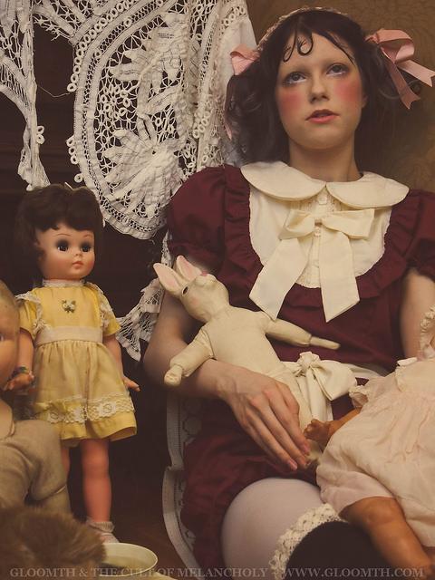 antique doll outfit costume photoshoot gloomth emily elizabeth estrange