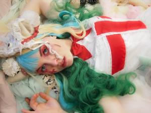 menhera hospital theme photoshoot gloomth outfit