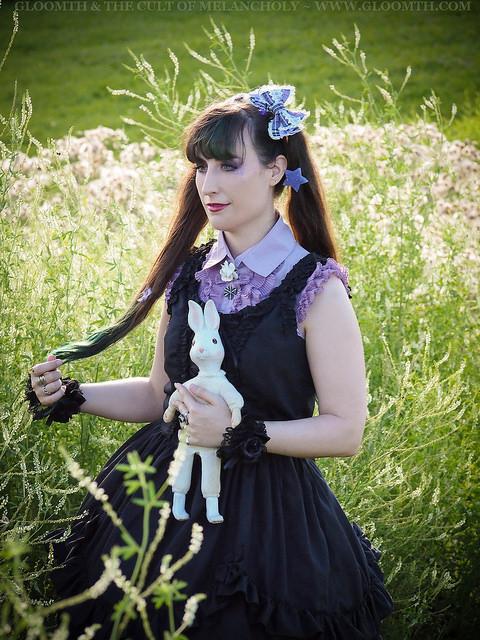 meadow summer lolita photoshoot