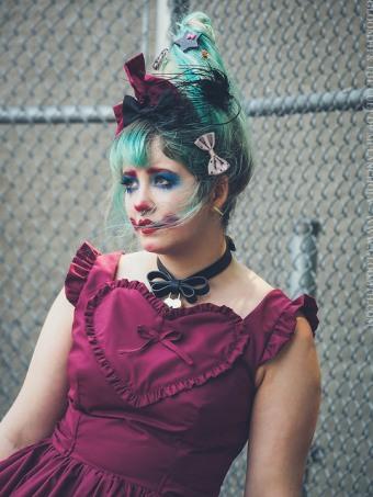 fashion clown makeup party hat