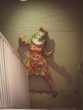 scary clown halloween outfit gloomth