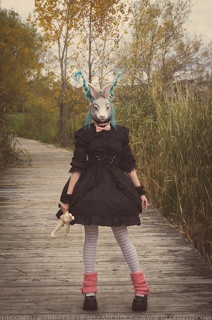bunny mask editorial photoshoot gloomth gothic