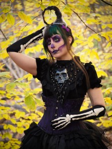 gothic skeleton outfit halloween victorian gloomth