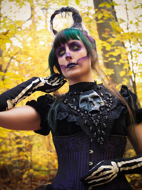 gothic skeleton makeup gloomth editorial toronto