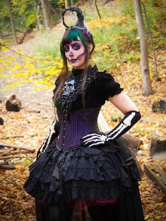gothic skeleton makeup victorian gloomth