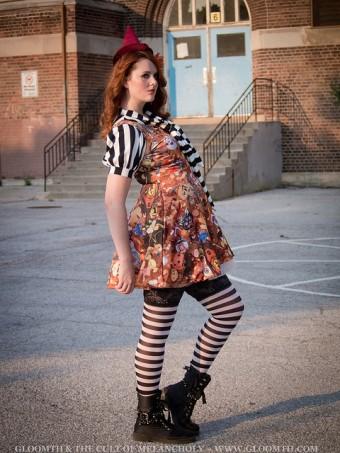 halloween print skater dress by gloomth