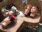 mannequin heads aberfoyle antique market