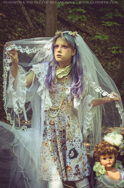 ghost bride halloween outfit inspiration gloomth dress