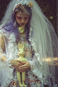 ghost bride outfit photoshoot editorial toronto gloomth