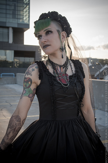 gloomth valance dress and purevile necklace