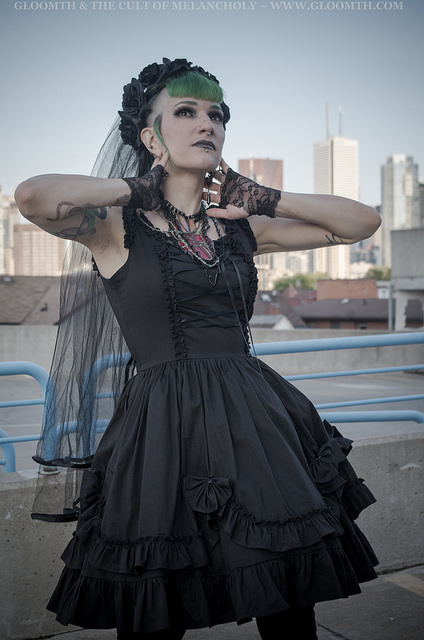 gothic valance corset dress toronto gloomth