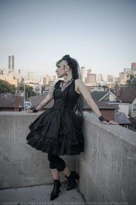 gothic fashion toronto designer taeden hall gloomth
