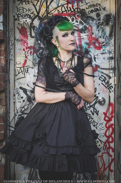 gothic fashion graffiti backdrop taeden hall photographer
