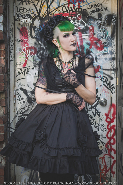 gothic fashion graffiti backdrop taeden hall photographer