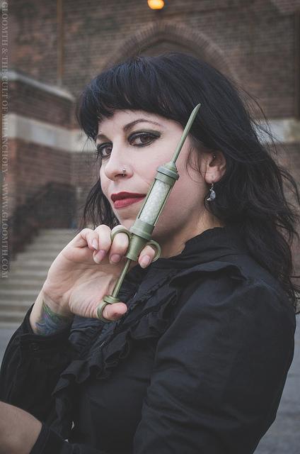 gothic nurse with syringe