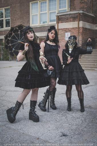 gothic fashion models toronto canada gloomth