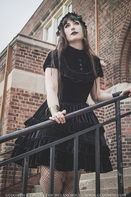 velvet gothic lolita outfit by gloomth in toronto canada