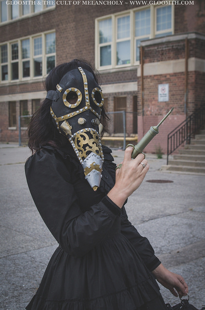 gothic plague doctor photoshoot editorial