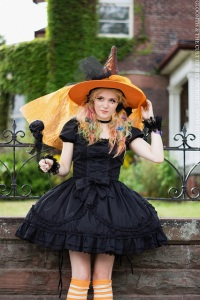 cute gothic lolita halloween witch outfit by gloomth