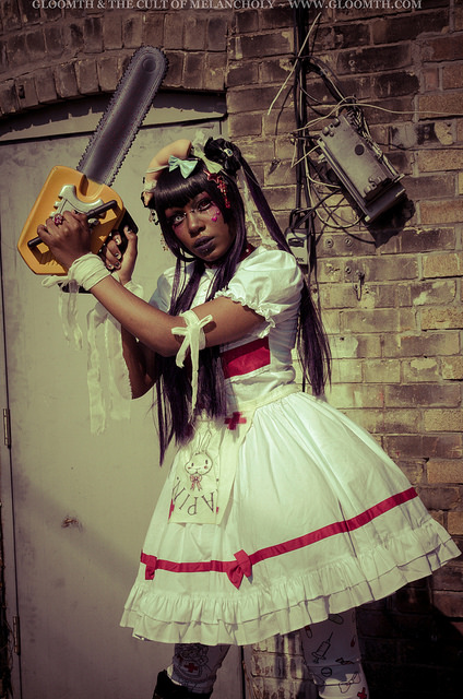 chainsaw nurse horror halloween photoshoot costume outfit by gloomth