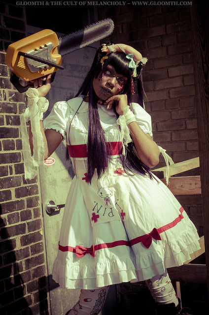 chainsaw massacre halloween outfit nurse gloomth